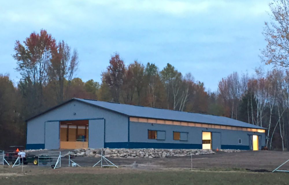 A Horse Barn and Riding Arena